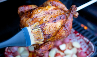 Rotisserie Chicken with Tequila Glaze